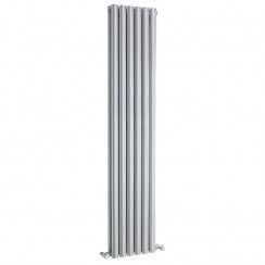 Revive Double Panel Designer Radiator - High Gloss Silver - 1800 x 354mm