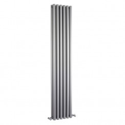 Savy Double Panel Designer Radiator - High Gloss Silver - 1800 x 354mm