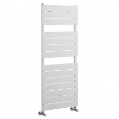 Flat Panel Heated Towel Rail - High Gloss White - 1213 x 500mm