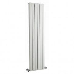 Sloane Double Panel Designer Radiator - High Gloss White - 1500 x 354mm