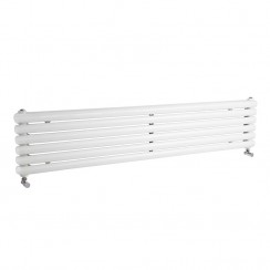 Salvia Double Panel Designer Radiator - High Gloss White - 1800 x 383mm