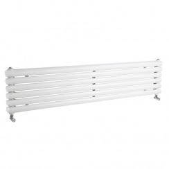 Salvia Double Panel Designer Radiator - High Gloss White - 1500 x 383mm
