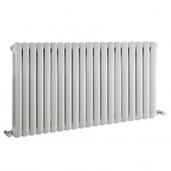 Salvia Double Panel Designer Radiator - High Gloss White - 635 x 1223mm