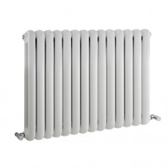 Salvia Double Panel Designer Radiator - High Gloss White - 635 x 863mm