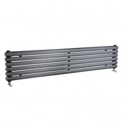 Salvia Double Panel Designer Radiator - Anthracite -  1800 x 383mm