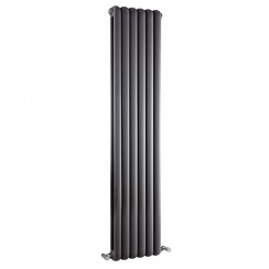 Salvia Double Panel Vretical Designer Radiator - Anthracite - 1500 x 383mm