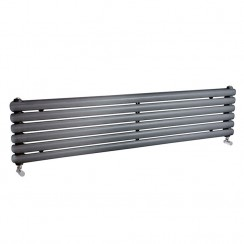 Salvia Double Panel Designer Radiator - Anthracite - 1500 x 383mm