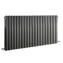 Salvia Double Panel Designer Radiator - Anthracite - 635 x 1223mm