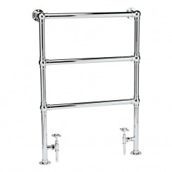 Countess Chrome Traditional Heated Towel Rail Floor Mounted