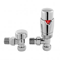 Luxury Angled Thermostatic Radiator Valves