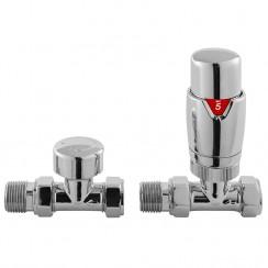 Chrome Luxury Straight Thermostatic Radiator Valves