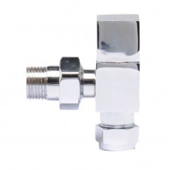Chrome Pure Square Radiator Valve Pack (pair)