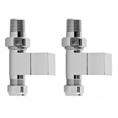 Straight Square Radiator Valve Pack (pair)