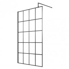 1200mm Black Framed Wetroom Screen