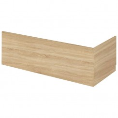 1800mm Natural Oak Front Bath Panel and Plinth