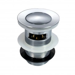 Round Push Button Basin Waste - Slotted