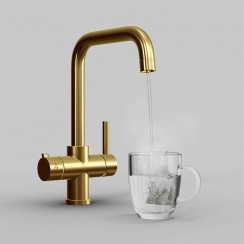 Gold Lisbon 3 in 1 Instant Hot Water Kitchen Tap & Filter