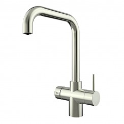 Brushed Steel Lisbon 3 in 1 Instant Hot Water Kitchen Tap 1
