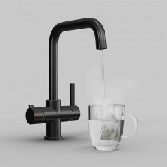 Matte Black Soho 4 in 1 Instant Hot Water Kitchen Tap 1