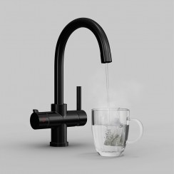 Matte Black Soho 4 in 1 Instant Hot Water Kitchen Tap