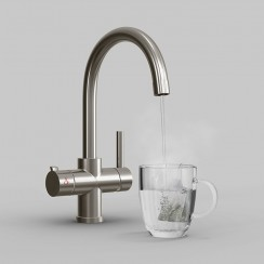 Soho Instant Hot Water Kitchen Tap Brushed Steel 1