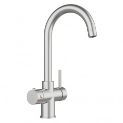 Soho Instant Hot Water Kitchen Tap Brushed Steel