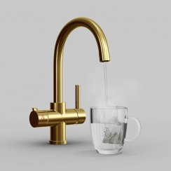 Gold Soho 4 in 1 Instant Hot Water Kitchen Tap & Filter Main