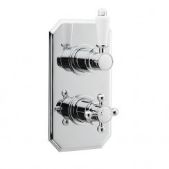 Victorian Twin Thermostatic Concealed Shower Valve