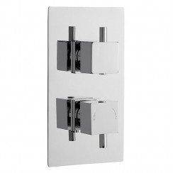 Pioneer Twin Thermostatic Shower Valve With Concealed Diverter