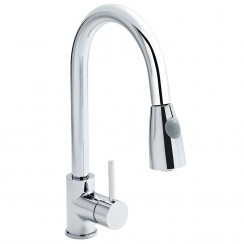 Pull-Out Kitchen Mixer Tap Chrome