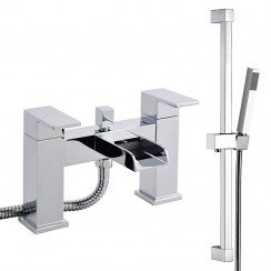 Kensington Bath Shower Mixer Tap & Rail Kit