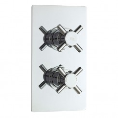 Hudson Reed  Tec Crosshead Twin Concealed Thermostatic Shower Valve With Diverter
