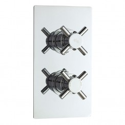 Hudson Reed  Tec Crosshead Concealed Twin Thermostatic Shower Valve