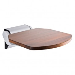 Luxury Wooden Shower Seat with Aluminum Hinges