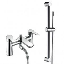 Rio Bath Shower Mixer Tap & Rail Kit