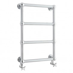 Epsom Traditional Chrome Heated Towel Rail Wall Mounted