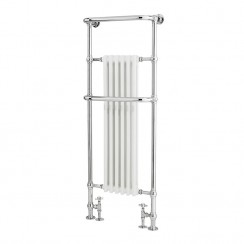 Brampton Traditional Heated Towel Rail - Floor Mounted - 1500 x 575mm