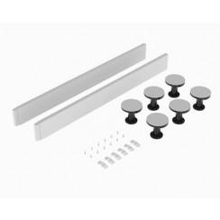 White 1000mm Square & Rectangle Shower Tray Lag Set & Plinth