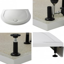 Easy Plumb Shower Tray Leg Set & Plinth (D-Shape)