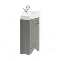 Old London Storm Grey Traditional Cloakroom Corner Cabinet 1TH