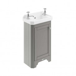 Old London Storm Grey Traditional 515mm Cloakroom Basin Unit 2TH