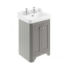 Old London Storm Grey Traditional 600mm Cloakroom Basin Unit 2TH