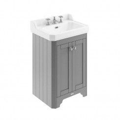 Old London Storm Grey Traditional 600mm Cloakroom Basin Unit 3TH