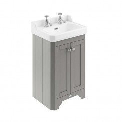 Old London Storm Grey Traditional 560mm Cloakroom Basin Unit 2TH