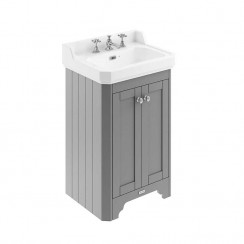 Old London Storm Grey Traditional 560mm Cloakroom Basin Unit 3TH