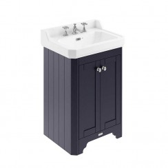 Old London Twilight Blue Traditional 600mm Cloakroom Basin Unit 3TH