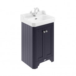 Old London Twilight Blue Traditional 560mm Cloakroom Basin Unit 1TH