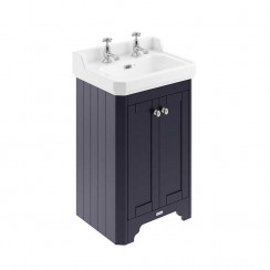 Old London Twilight Blue Traditional 560mm Cloakroom Basin Unit 2TH