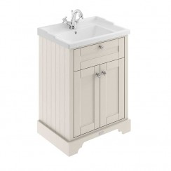 Old London Timeless Sand Traditional 600mm Cabinet With Ceramic Basin 1TH