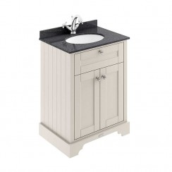 Old London Timeless Sand Traditional 600mm Cabinet With Black Marble Basin Top 1TH